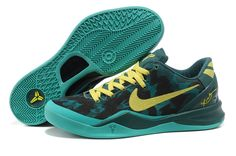 outlet store 68192 59729 Authentic Nike Zoom Kobe 8 (VIII) Basketball Shoes Dark Green Yellow Style  For Wholesale