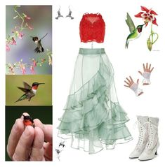 """Hummingbird Fairy"" by valaquenta ❤ liked on Polyvore featuring River Island, Johanna Ortiz, Bling Jewelry, Jana Reinhardt and Carolina Glamour Collection"