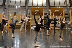 Bolshoi Ballet class in Salle Petipa of the Palais Garnier / with Evgenia Obraztsova and Diana Vishneva /Paris 4 January 2014
