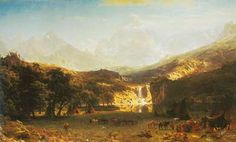 Albert Bierstadt, The Rocky Mountains Fine Art Reproduction Oil Painting