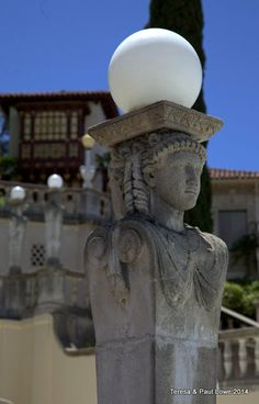 Ornate statues like this one adored the path of arriving guests!