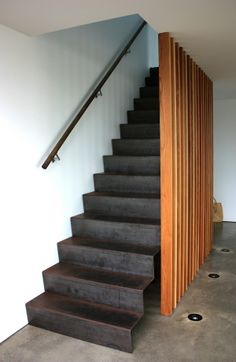 Twin Gable - Chris Tate Architecture  Steel steps.