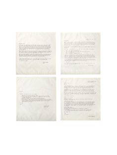 Advice Letter Napkins (Set of 4) by Simrin at Gilt