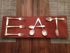 "Love this...maybe the ""E"" in spoons, ""A"" in forks and ""T"" in knives......hesfing to Dollartree!!"