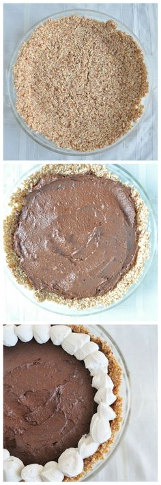 Chocolate Mousse Pie.  Super easy, no bake recipe perfect for summer.  Chocolate decadence with a secret ingredient!  Vegan, gluten free and paleo.