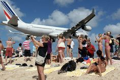 St Maarten's Maho Beach in the Caribbean...