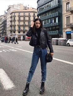 Glam Sugar | 21 Outfits With Leather Jackets Black