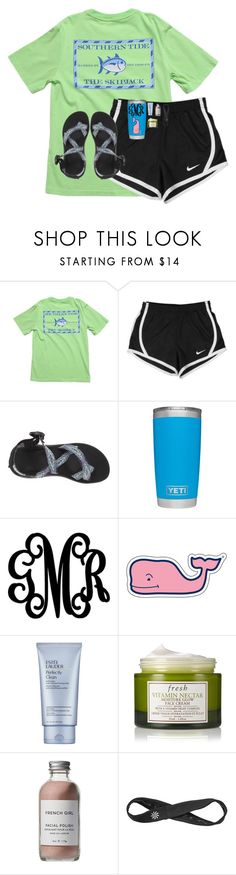 """Nike shorts = life"" by emmalw02 ❤ liked on Polyvore featuring Southern Tide, NIKE, Chaco, WALL, Vineyard Vines, Estée Lauder, Fresh, French Girl and Athleta"