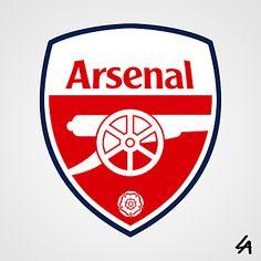 Arsenal Soccer, Arsenal Fc, England Football Badge, Football Logo Design, Richmond Football Club, Soccer Logo, Football Kits, Logo Concept, Logo Branding