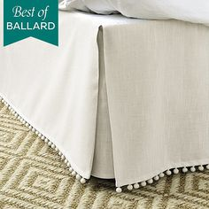 Where to buy a tailored bed skirt? Shop stylish bed skirts, dust ruffles, bed skirt queen sized and more at Ballard Designs today! Dust Ruffle, Ruffles, Custom Made Curtains, Stylish Beds, Bedroom Bed, Bedrooms, Bedroom Themes, Master Bedroom, Cotton Bedding