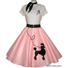 Poodle Skirt Outfit Gallery custom made to order girls patty poodle skirt outfit Poodle Skirt Outfit. Here is Poodle Skirt Outfit Gallery for you. Poodle Skirt 50s, Poodle Skirt Costume, Poodle Skirt Outfit, Poodle Dress, Costume Dress, 70s Costume, Hippie Costume, Vintage Outfits, 50s Outfits