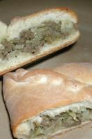 Bierocks (German hamburger and cabbage filled rolls) our family favorite