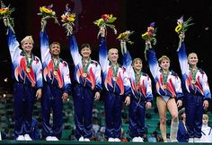 1996 US Olympic gymnastics team.  These girls were it.  We practiced for hours on fabricated gymnastic equipment.