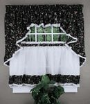 "Cherries Country Kitchen Curtains, 58""W X 36""L Ruffled Tier Pair Sale Price: $11.99"