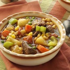 Vegetable Beef Barley Soup Recipe from Taste of Home -- shared by Tara McDonald of Kansas City, Missouri