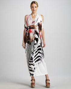 c545c8c5838 Exotic-Printed Maxi Dress by Melissa Masse at Neiman Marcus.