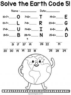 sun and moon projects for first grade Earth Day Worksheets, Earth Day Activities, Math Worksheets, Math Activities, Printable Worksheets, Earth Day Projects, Earth Day Crafts, Moon Projects, 1st Grade Math