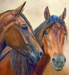pinturas-cabezas-de-caballos-oleo