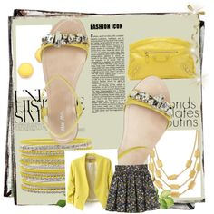 """yellow shinee"" by dahliafahrian on Polyvore"