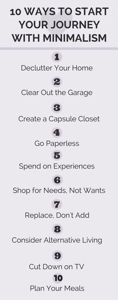 10 ways to be a minimalist