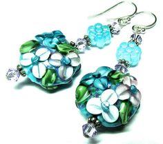 Lampwork Earrings Handmade Artisan Lampwork Beads by SeeMyJewelry, $28.00