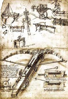 Leonardo Da Vinci weapons, military engineering and the renaissance arms war Italian Renaissance Art, Renaissance Artists, Renaissance Men, Leonardo Da Vinci Dibujos, Leonardo Da Vinci Zeichnungen, Da Vinci Inventions, Military Engineering, Crossbow, Technical Drawing