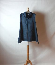 ready to ship midnight  blue asian top with by annyschooclothing