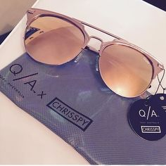 Quay Australia X CHRISSPY Gemini rose sunglasses Brand new quay Gemini rose sunnies a collab with chrisspy! Currently Sold out everywhere! Nice quality looks like Dior! Suited for a variety of face shapes! Quay Australia Accessories Sunglasses