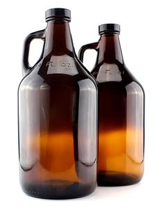 Amber Glass Growler Jugs Gallon w/Black Phenolic Lids, Great for Kombucha, Home Brew, Distilled Water, Cider & Best Kombucha, Kombucha Scoby, Fun Drinks Alcohol, Alcoholic Drinks, Kombucha Bottles, Kombucha Starter, Glass Water Bottle, Glass Bottles, Beer Growler