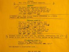 script pages - Victor/Michael Shanks  - Burn Notice S2 Bad Blood