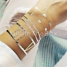 1pcs lang armbånd smykker inspirert metallic gull og sølv tatovering klistremerker midlertidige tatoveringer - NOK kr. 100