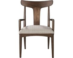 ED Ellen DeGeneres Crafted by Thomasville brings the beauty of Greece to your dining room with the classic Greek Klismos design. The Lania Arm Chair features tapered legs and body in mid-century walnut.