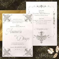 Am combinat caractere ce evocă stilul erei post-edwardiene cu delicatețea fanteziilor florale ale vechilor broderii iar, în cromatică, griul cald al cerului englezesc cu rafinamentul cremului perlat al hârtiei. O invitație autentică și luxuriantă cu care vei face senzație! Downton Abbey, Nasa, Bullet Journal, Glamour, Floral, Artist, Vintage, Flowers, Artists