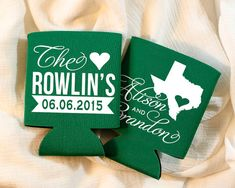 Completely Custom Wedding Koozies!! ANY COLOR COMBINATION! ANY STATE! ANY COUNTRY! ANY DESTINATION!  With our large selection of designs, koozie and