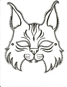 Printable Bobcat mask for the next big game. Tiger Scouts, Cub Scouts, Animal Mask Templates, Vanellope Y Ralph, Cub Scout Crafts, Georgia College, Scout Mom, Pride Colors, Printable Masks