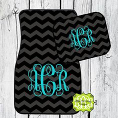 Car Mats Chevron Personalized Monogrammed Floor by LittleBitSassy