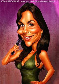 Ivete Sangalo Crazy Funny Pictures, Funny Pictures Of Women, Celebrity Pictures, Face Distortion, Female Characters, Disney Characters, Celebrity Caricatures, Realistic Drawings, Photoshop