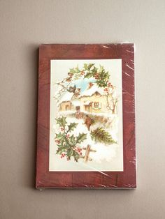 Christmas gift box set  classic Victorian winter scene new in