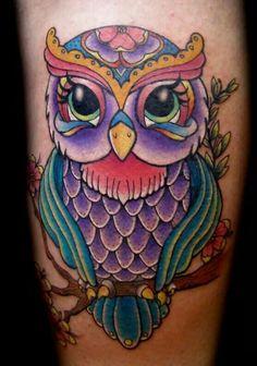 Tattoo Owl Neck Tattoo, I Tattoo, Cool Tattoos, Amazing Tattoos, Tatoos, Crochet Snowflake Pattern, Crochet Snowflakes, Owl Tattoo Design, Tattoo Designs