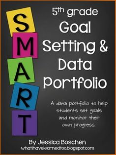 GOAL SETTING & DATA PORTFOLIO {FIFTH GRADE} - TeachersPayTeachers.com