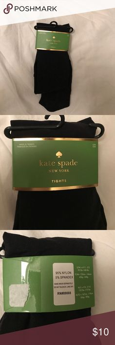 BNWT KATE SPADE BLACK TIGHTS BNWT. Never used, no odors, stains, tears, discoloration, etc kate spade Accessories Hosiery & Socks