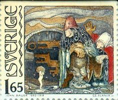 Swedish stamp: Sverige 1.65  - John Bauer