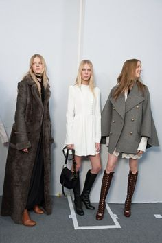 Of course, what would Winter be without a little retro redux?  The 70s is still the era du jour. So embrace the knee high boots and earthy colour tones
