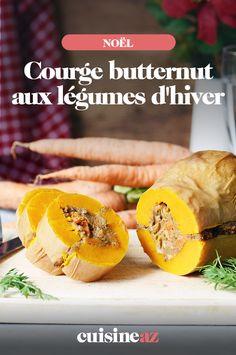 Une recette vegan de courge butternut farcie aux légumes d'hiver. #recette#cuisine#courge#butternut #legume #hiver #vegan