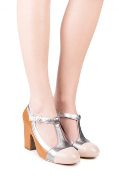 Jeffrey Campbell Shoes POLINA Shop All in Nude Pewter Silver Yellow