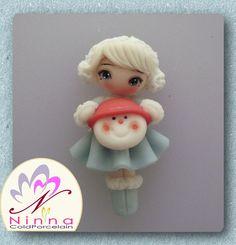 Cold Porcelain.. Christmas Elsa..