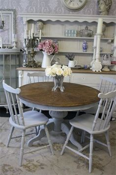 Gorgeousness is my word for it!-) Annie sloan Paris Grey (Idea for making over a table I have in the garage. Refurbished Furniture, Paint Furniture, Shabby Chic Furniture, Furniture Makeover, Grey Furniture, Repurposed Furniture, Furniture Design, Hutch Makeover, Dresser Makeovers