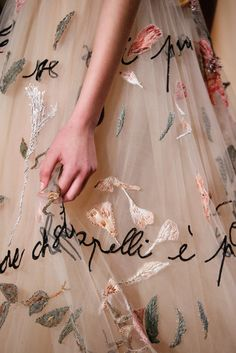 Detail of Valentino Haute Couture Spring 2015.