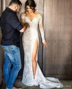Arrival Slit With Detachable Queen Wedding Dress Bridal Gown Custom Size 4-26+ | eBay