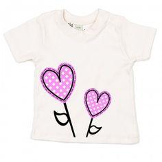 Camiseta 100% de algodón orgánico certificado GOTS estampado con tintas respetuosas con el medio ambiente. Ideal para bebés con pieles sensibles.